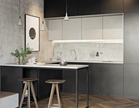 Маленька кухня в стилі лофт